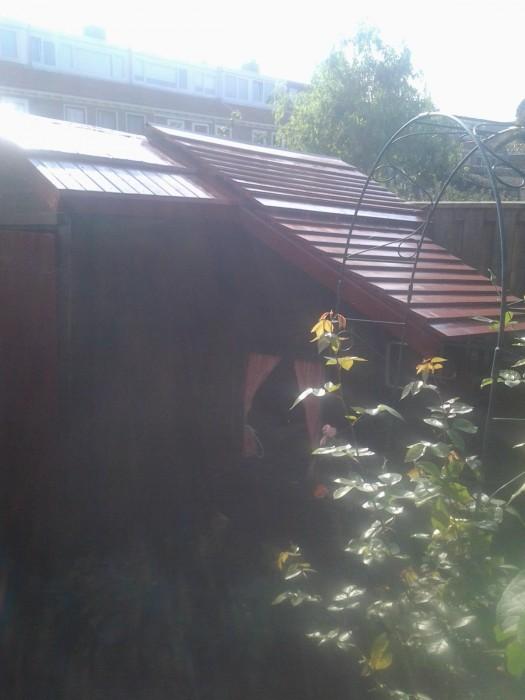 Nieuw dak schuurtje